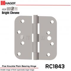 Hager 1843 US26 Full Mortise Hinge Stock No 081895
