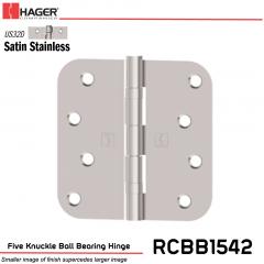 Hager 1542 US32D Full Mortise Hinge Stock No 074724