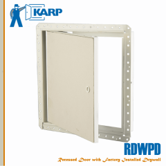 2F-RDWPD1212-CYL,Karp RDWPD 12 in. x 12 in. Flush Pre-Installed Drywall Access Door with Drywall Bead-Cylinder Lock-Large