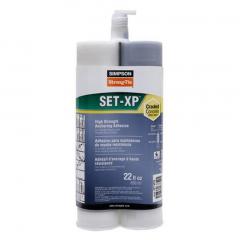Simpson Strong-Tie SET-XP22 Epoxy Anchoring Adhesive 22 oz. Tube