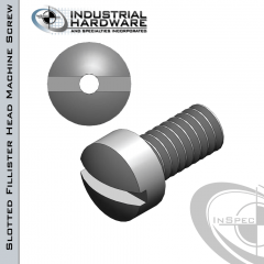 Stainless Slotted Fillister Head Vented Machine Screw: 1/4-20 x 1-1/2