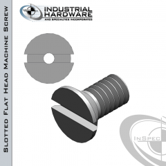 Stainless Slotted Flat Head Vented Machine Screw: 1/4-20 x 1-1/2