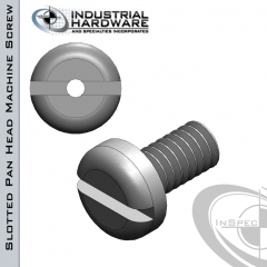 Stainless Slotted Pan Head Vented Machine Screw: 5/16-18 x 1-1/2