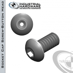 Stainless Socket Button Head Vented Cap Screw: 1/4-20 x 1-1/2