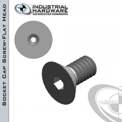 Stainless Socket Flat Head Vented Cap Screw: 5/16-18 x 1-1/4