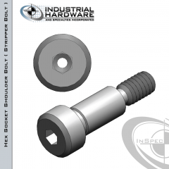 Stainless Socket Head Vented Shoulder Screw: 3/16 x 1/8