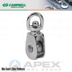 Campbell T7655022N 1-1/4 in. Single Sheave Swivel Eye Pulley