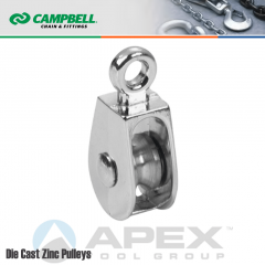 Campbell T7655132N 1-1/2 in. Single Sheave Rigid Eye Pulley