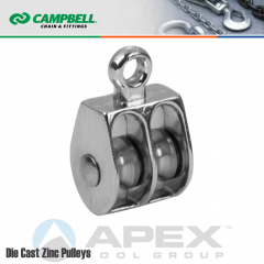 Campbell T7655212N 1 in. Double Sheave Rigid Eye Pulley