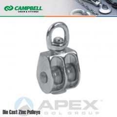 Campbell T7655312N 1 in. Double Sheave Swivel Eye Pulley
