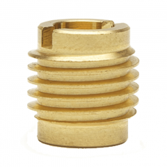 4-40 UNC x 0.375 Knife-Thread Threaded Inserts For Wood - Brass