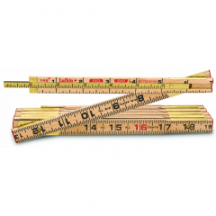 Lufkin TX46N 5/8 in. x 6 ft. Red End Wood Rule with Two 6 in. Slide Rule Extension