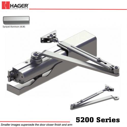 Hager 5200 Alm Mlt Main Arm Door Closer Stock No 126476