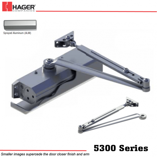 Hager 5300 Alm Mlt Main Arm Door Closer Stock No 145672