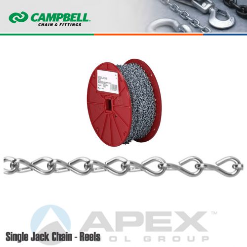 #12 Single Jack Chain Stainless Steel 100 ft Box