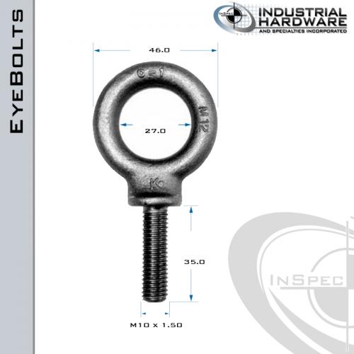 m10 forged thread hanging eye bolts