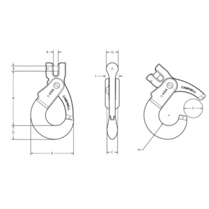 Clevis Self Locking Hooks Diagram