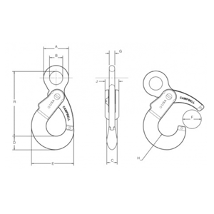 Eye Self Locking Hook Diagram
