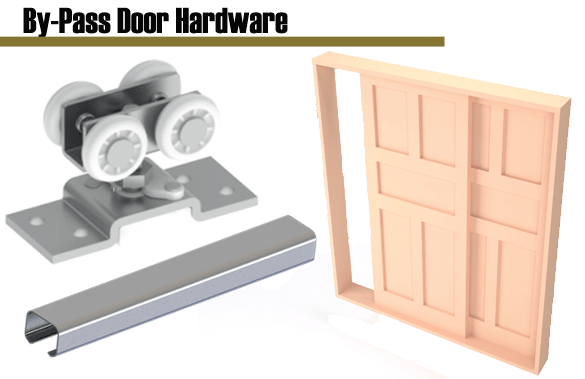 Industrial Hardware and Specialties offers the full-range of Hager trouble-free, sturdy and quiet motion by-pass door hardware sets.