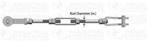 Tie Rod Assembly Rod Diameter Dimension
