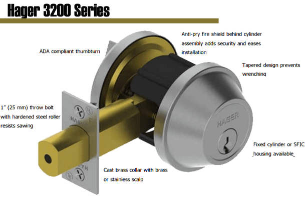 Hager 3200 Grade 2 Deadlock is aperfect complement to the 3500 Series for extra protection against break-in and is backed by a lifetime warranty.